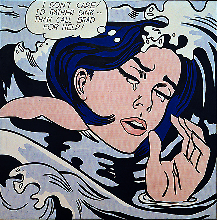 """Roy Lichtenstein's """"Drowning Girl"""" (1963)"""
