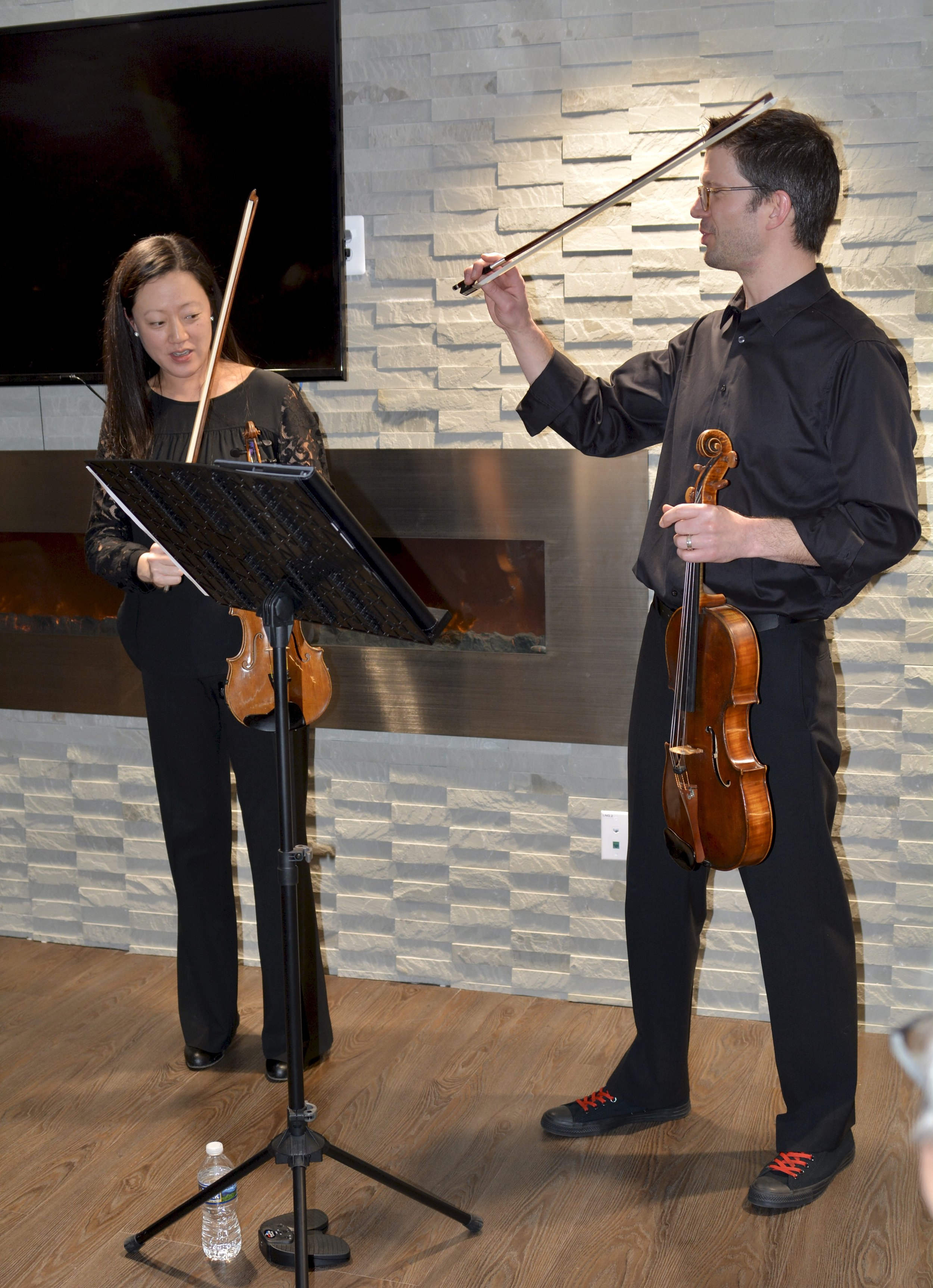 Chaerim and Derek Smith, Chamber Dance Project, violinist and violist
