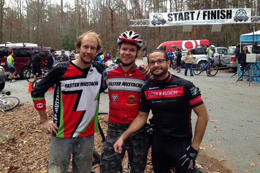 Nico, Nik, and Kurt after a day full of Super D runs at Paris Mountain. Photo by Nik Fedele