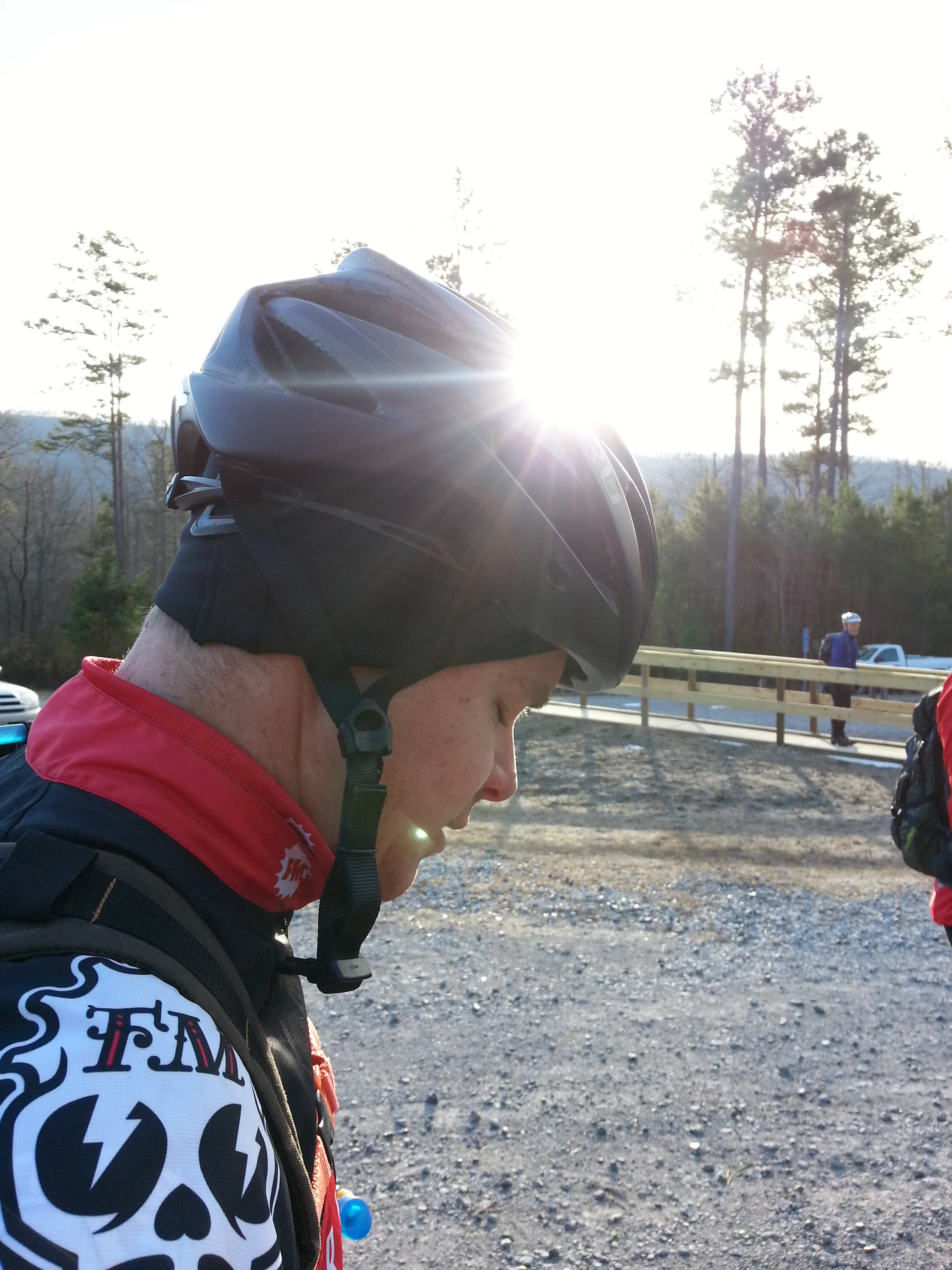 Xtopher warming up his race face