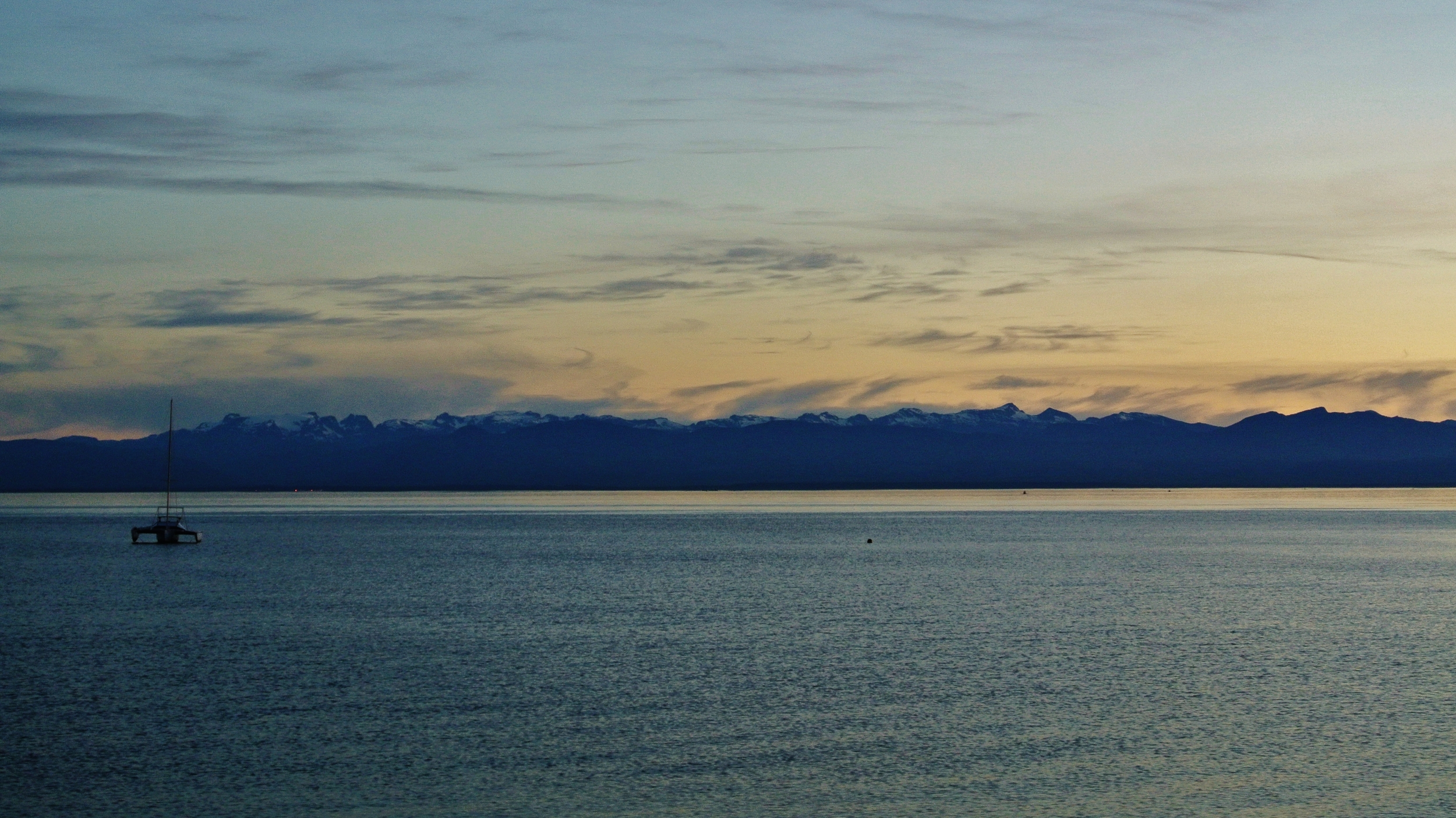 Looking across to Vancouver Island