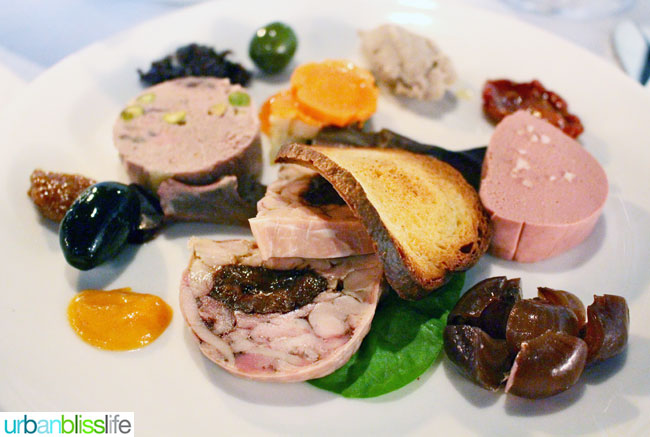 Tagliere della Casa for Dining Month. Chicken Terrina, Rabbit Liver Pate, Duck Breast Mortadella.