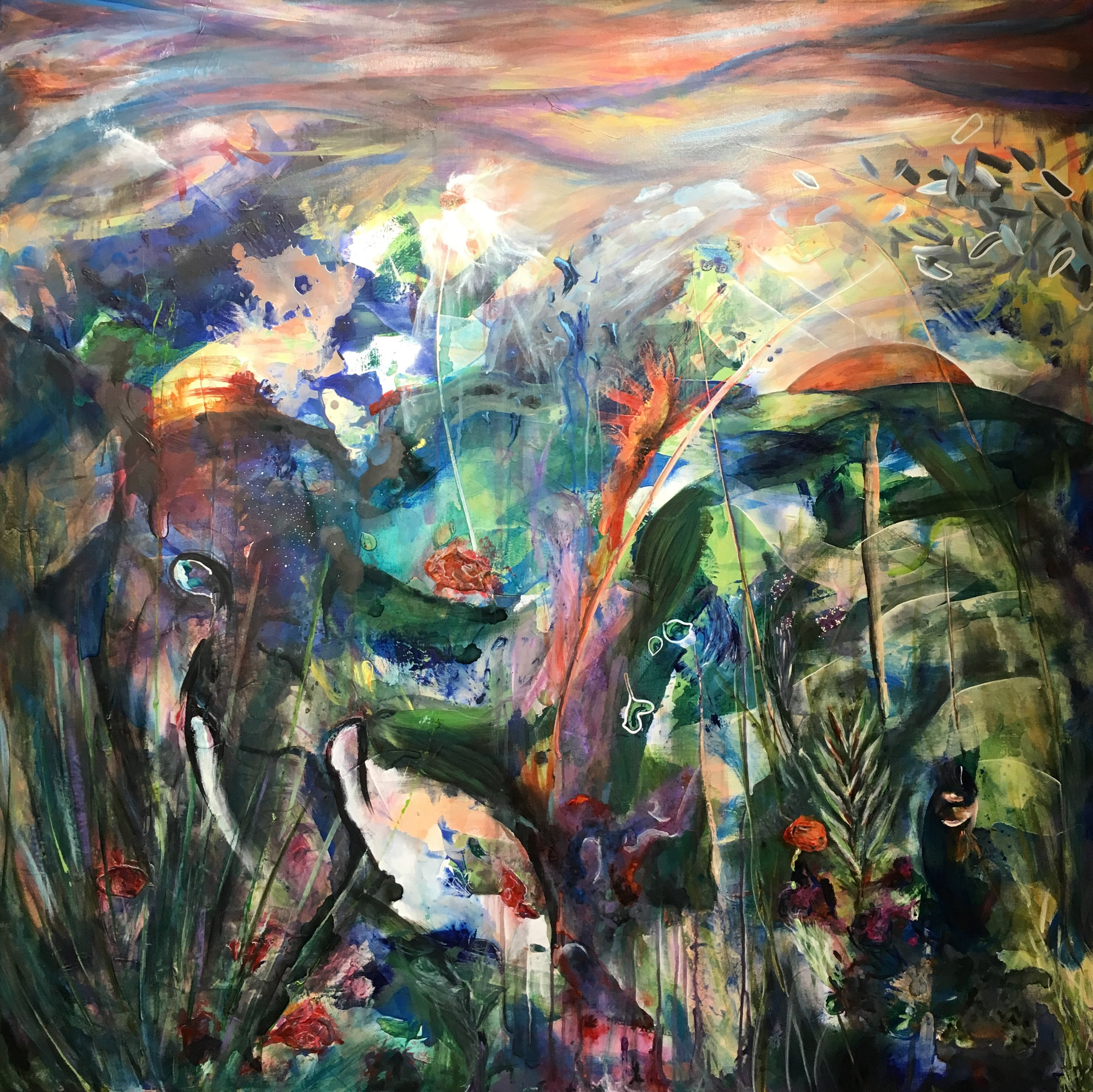 Large scale painting in private collection.