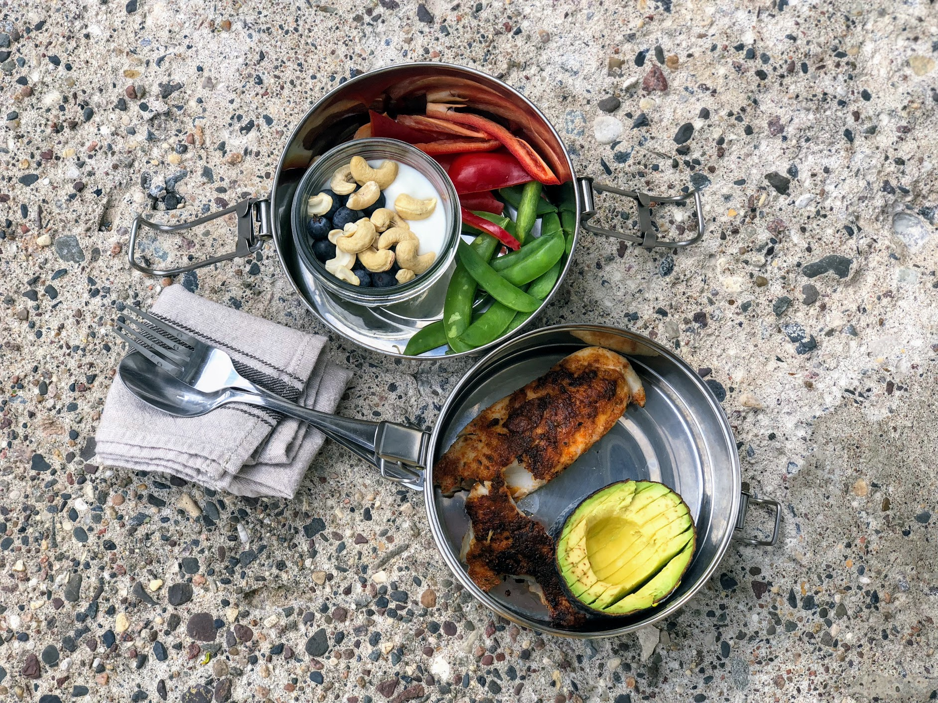 To-Go Ware   Stainless steel, easily recyclable, kids can typically maneuver the clip, plenty of room, dishwasher safe