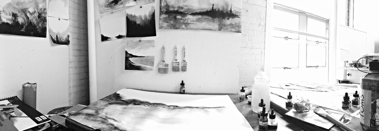 My studio space for this year has amazing natural lighting! It is absolutely influencing my drawings in a positive way.   September 2014: Boston, MA