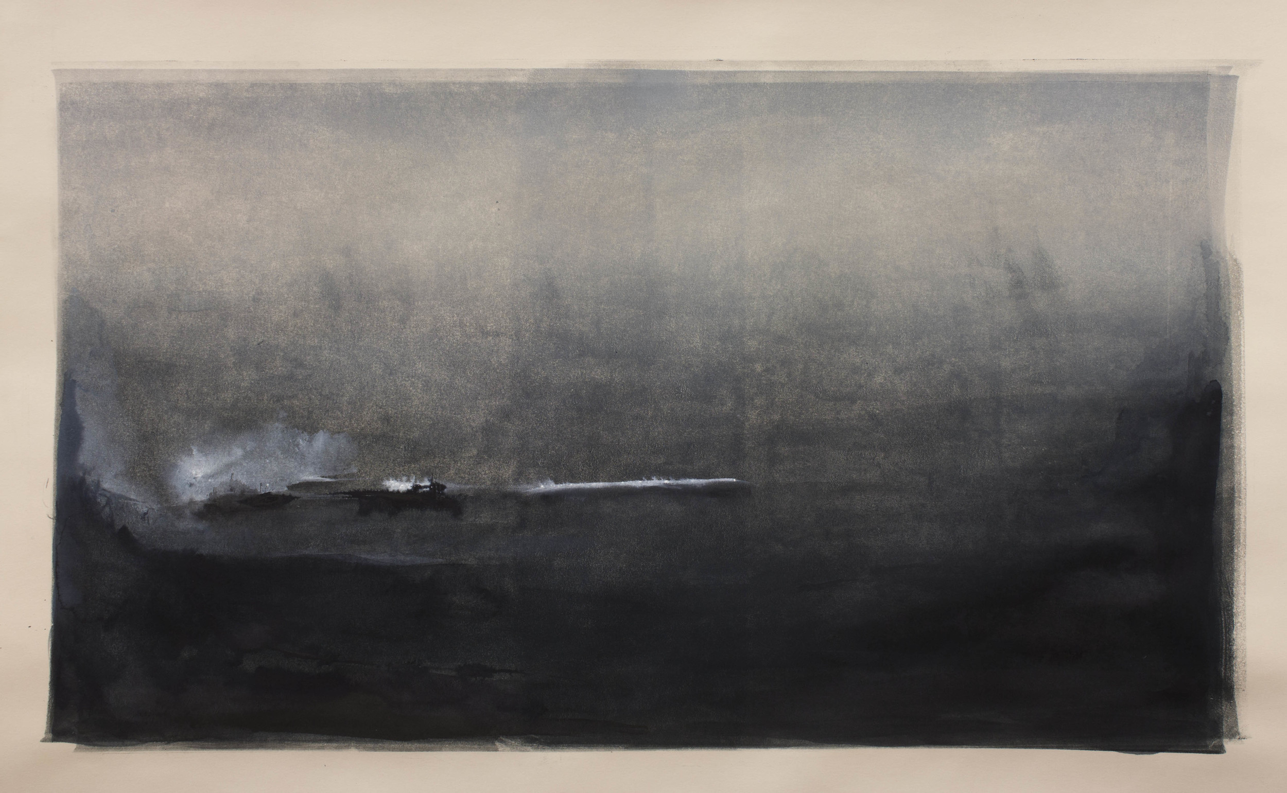 """Stratus Monotype and ink on paper 