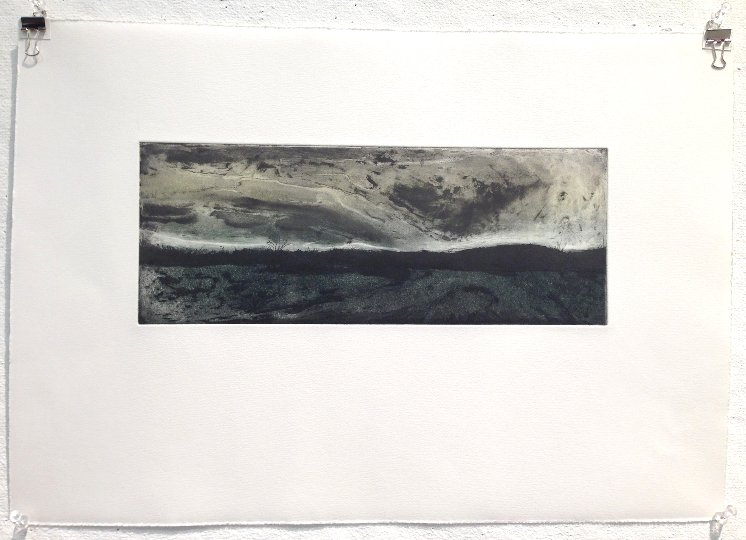 """Hampden, MA etching on paper 