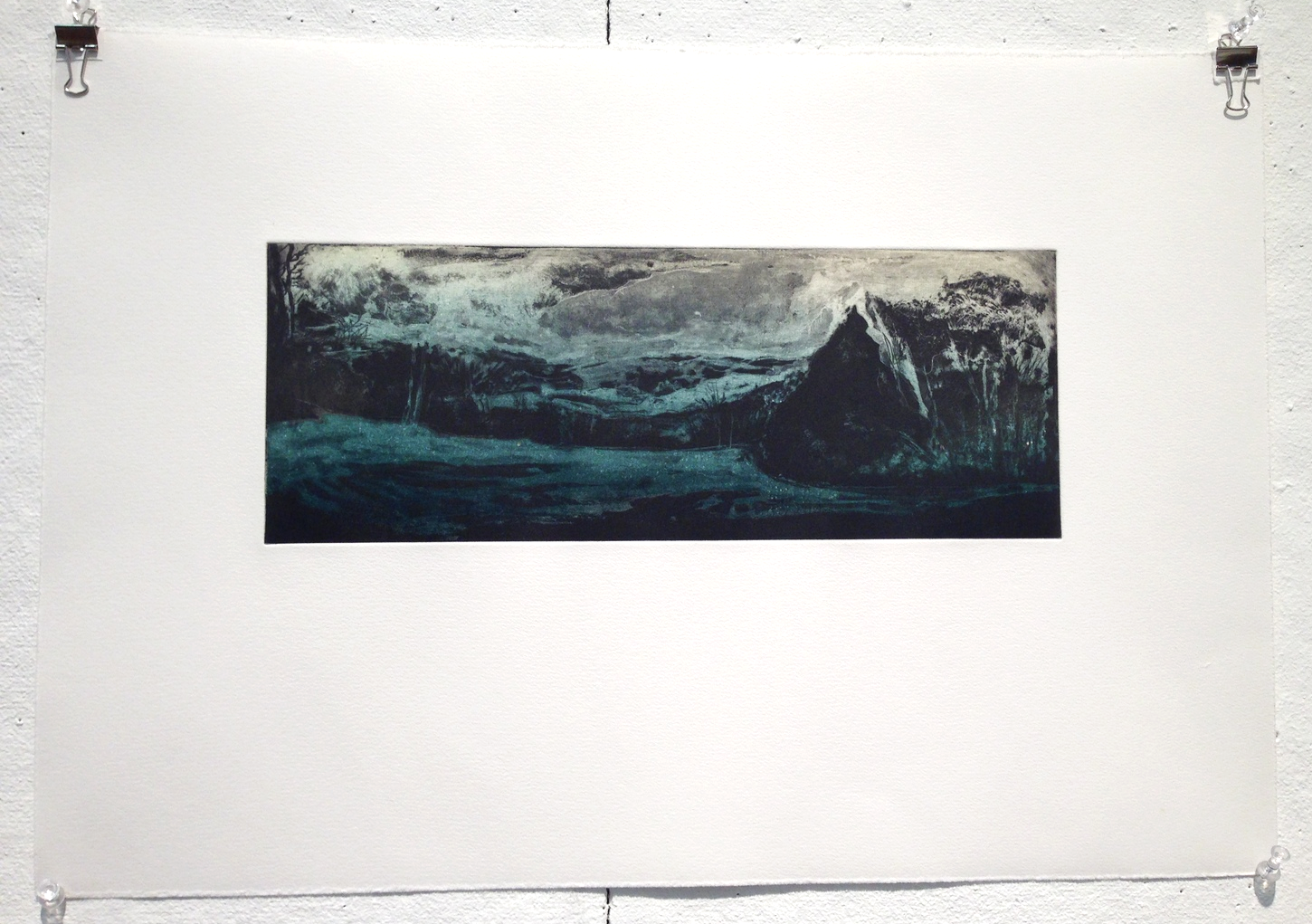 """Berkshire East Variation etching on paper 
