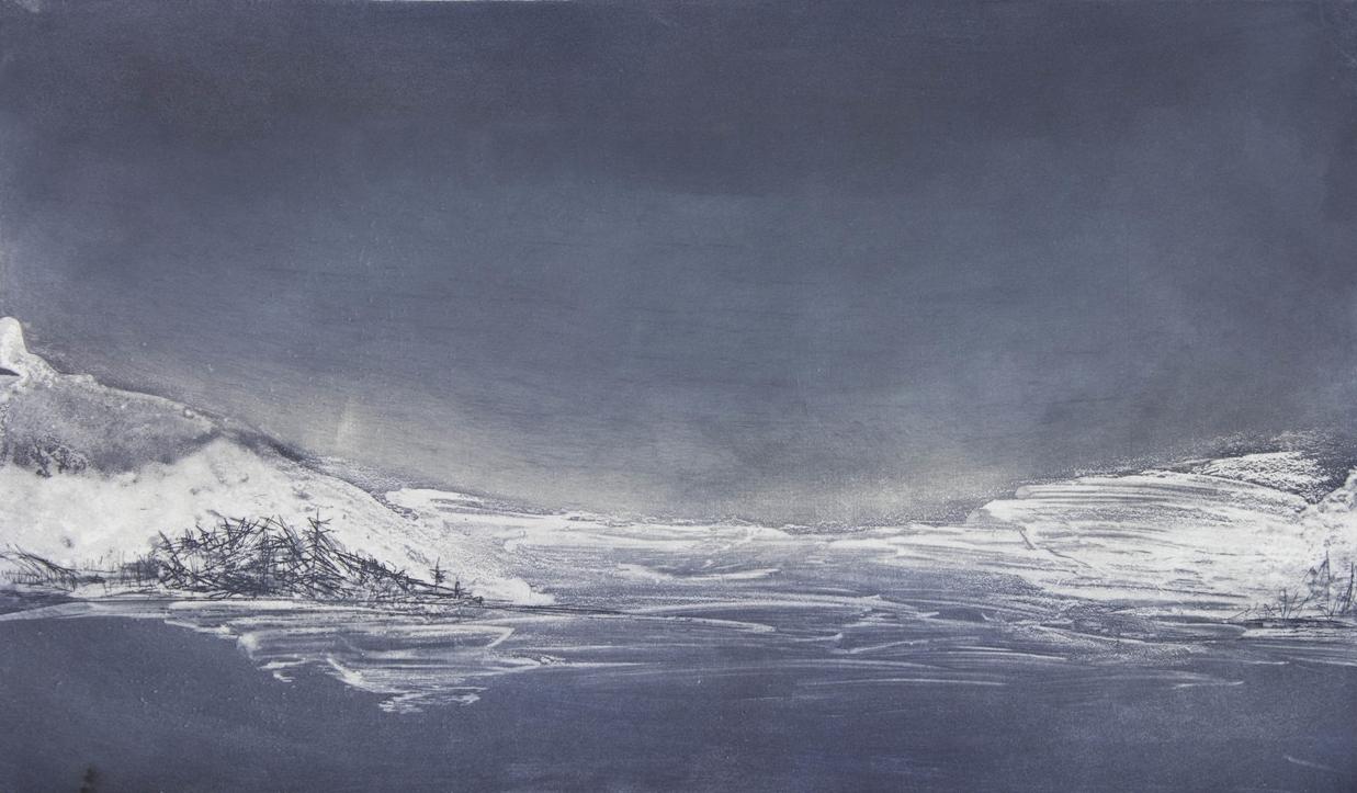 "Glacial Striations, 2014 Etching |  450 /550  9""x15.5"""