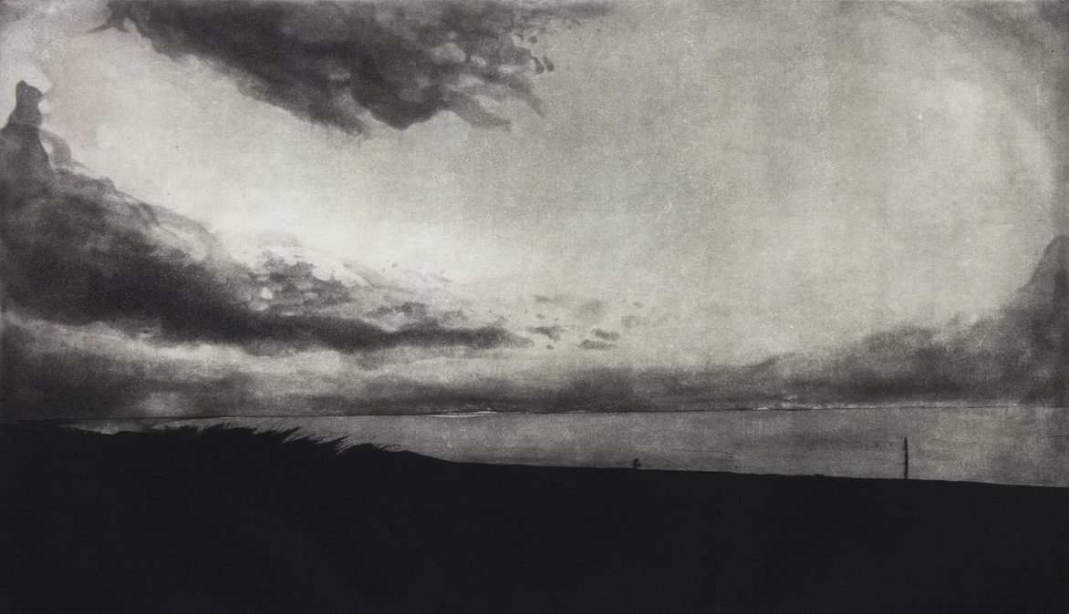 """Race Point, 2013 etching 