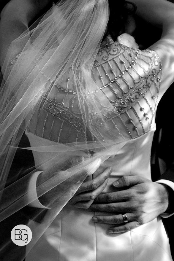 black and white dress detail photo edmonton wedding photographers
