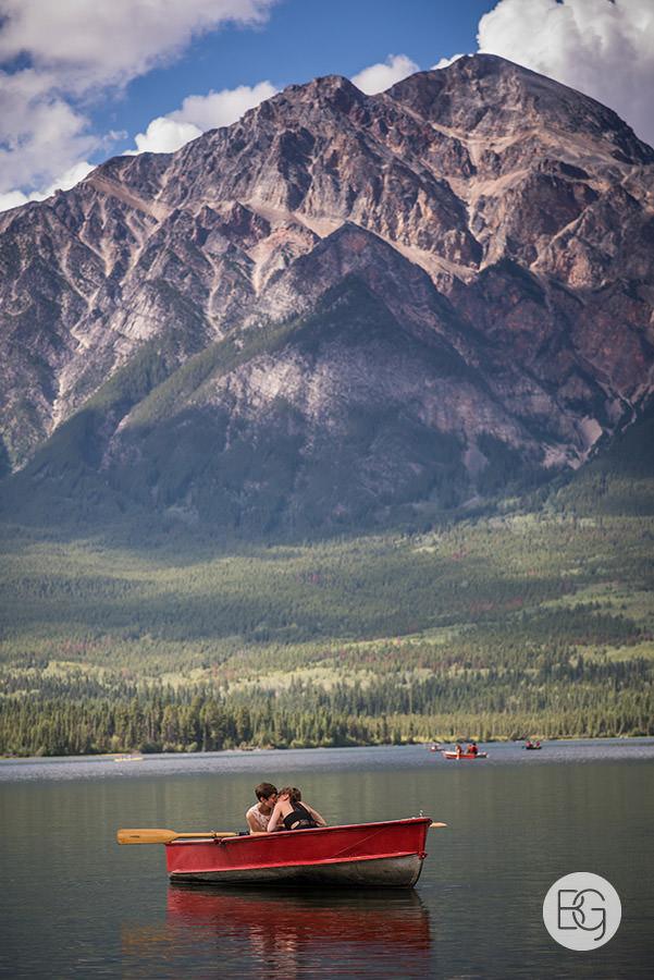 Jasper pyramid lake elopement lesbian wedding photographers