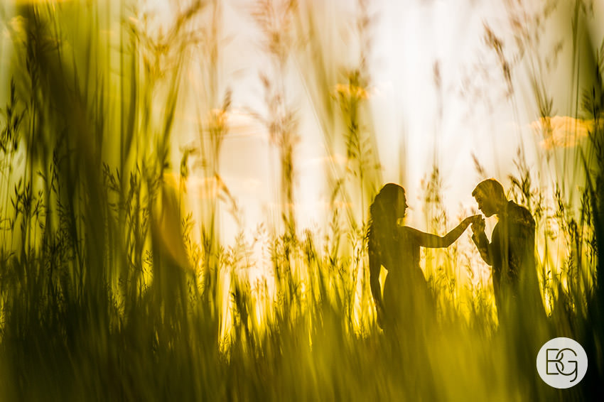 prairie wheat field engagement photo alberta edmonton rural farm silhouette