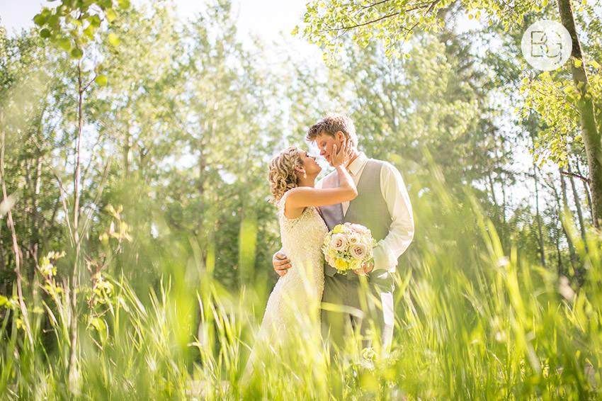 Edmonton wedding photographers green springtime glowing beautiful