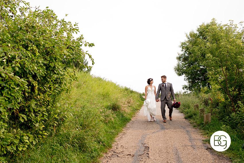 edmonton wedding photographers river valley trails walk casual portrait
