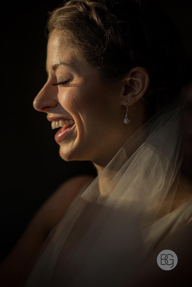 bridal portrait laughter sunshine edmonton wedding photographer