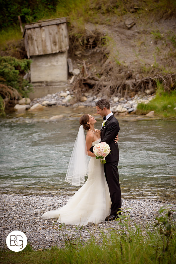 banff springs hotel portrait bow river wedding photography