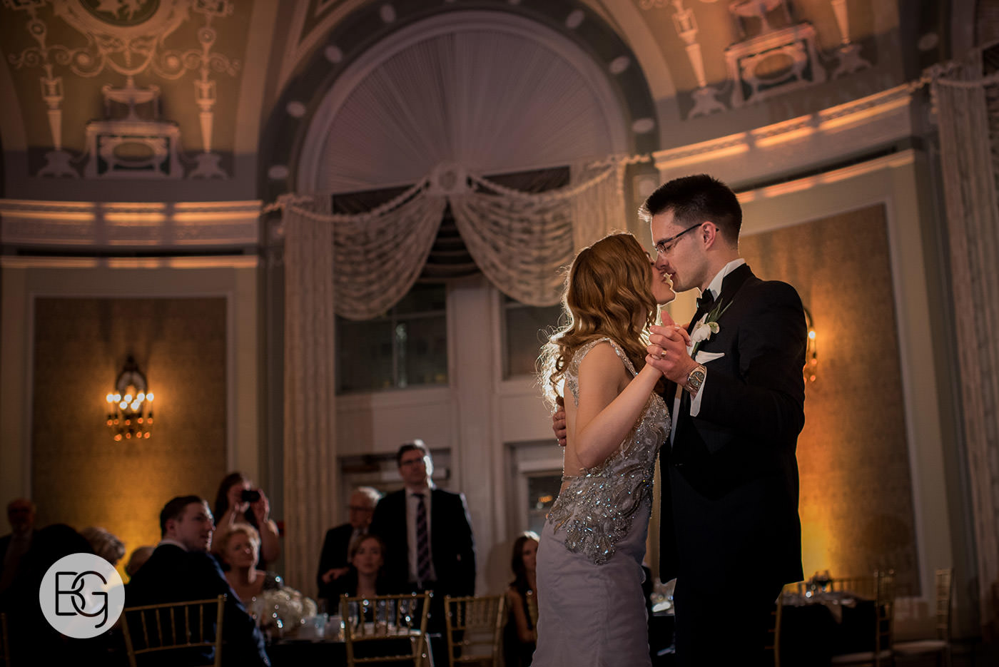 Fairmont Hotel MacDonald Wedding reception edmonton photographers