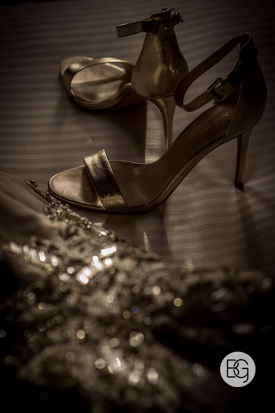 Best edmonton photographers for weddings details gold shoes bride