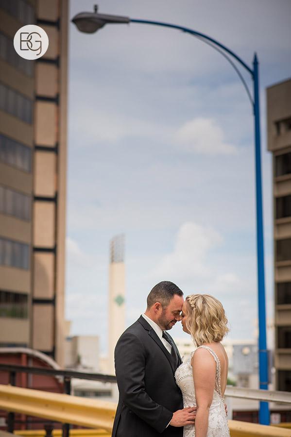 downtown edmonton wedding photographer urban city hall parkade