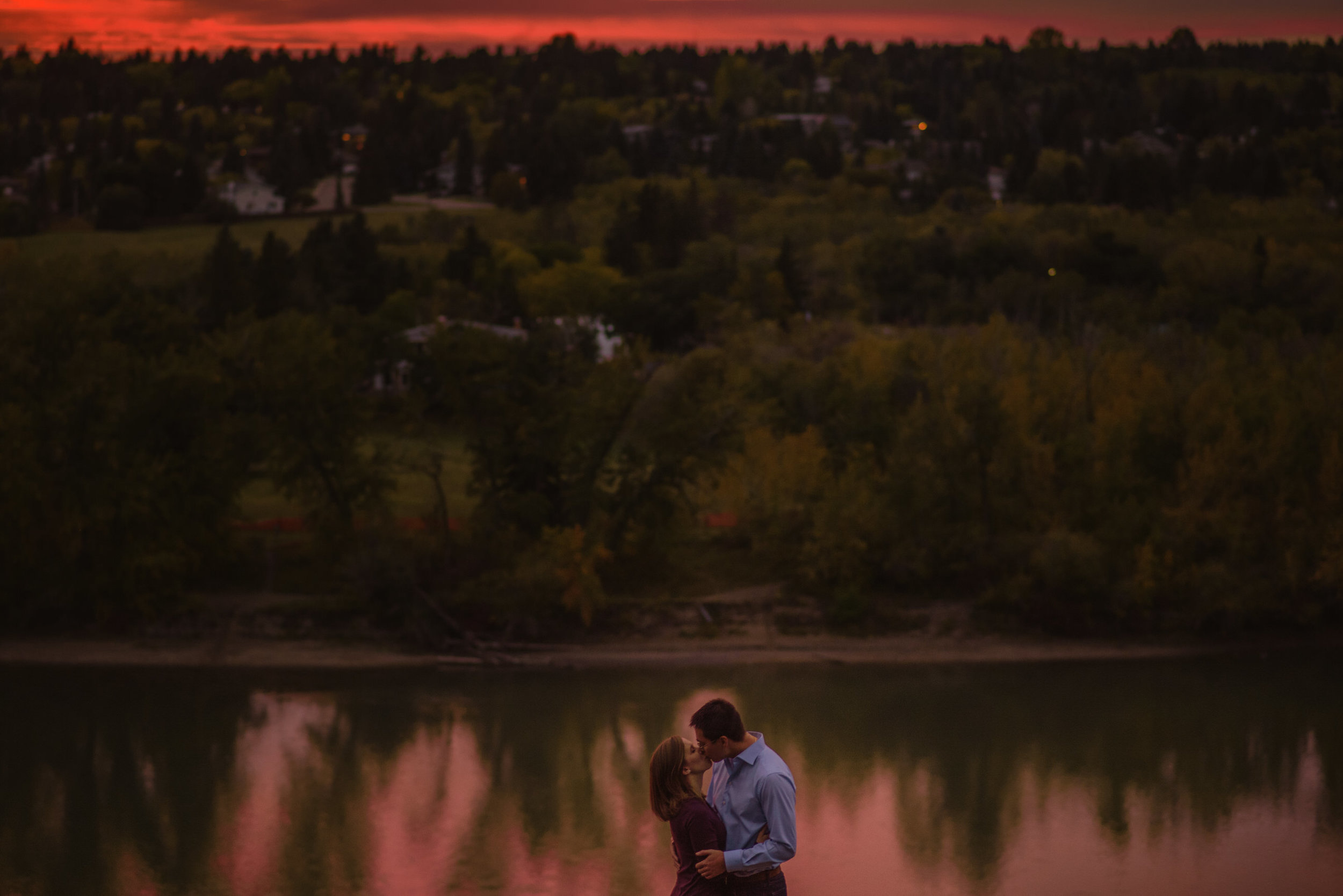 edmonton engagement photos sunset