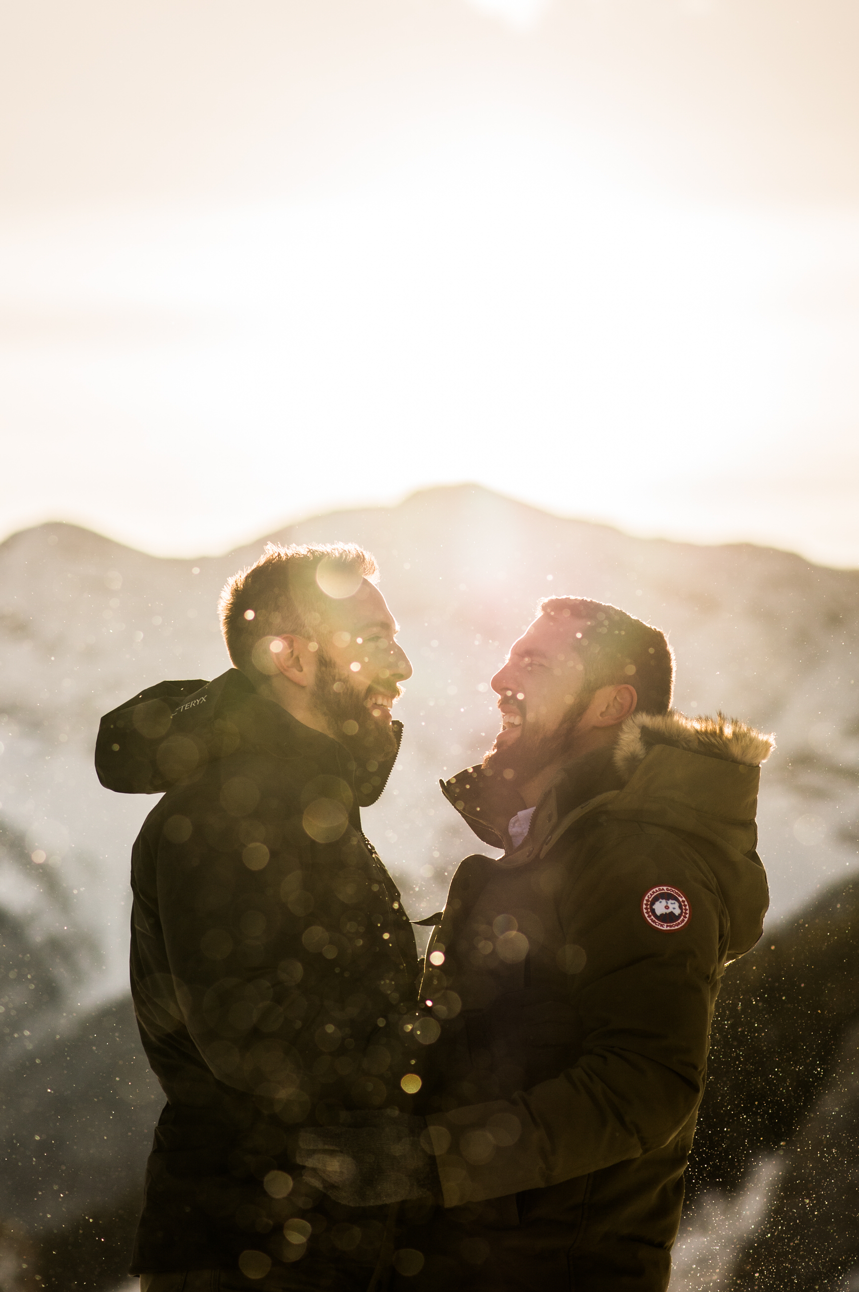 engagement photos in canmore gay wedding