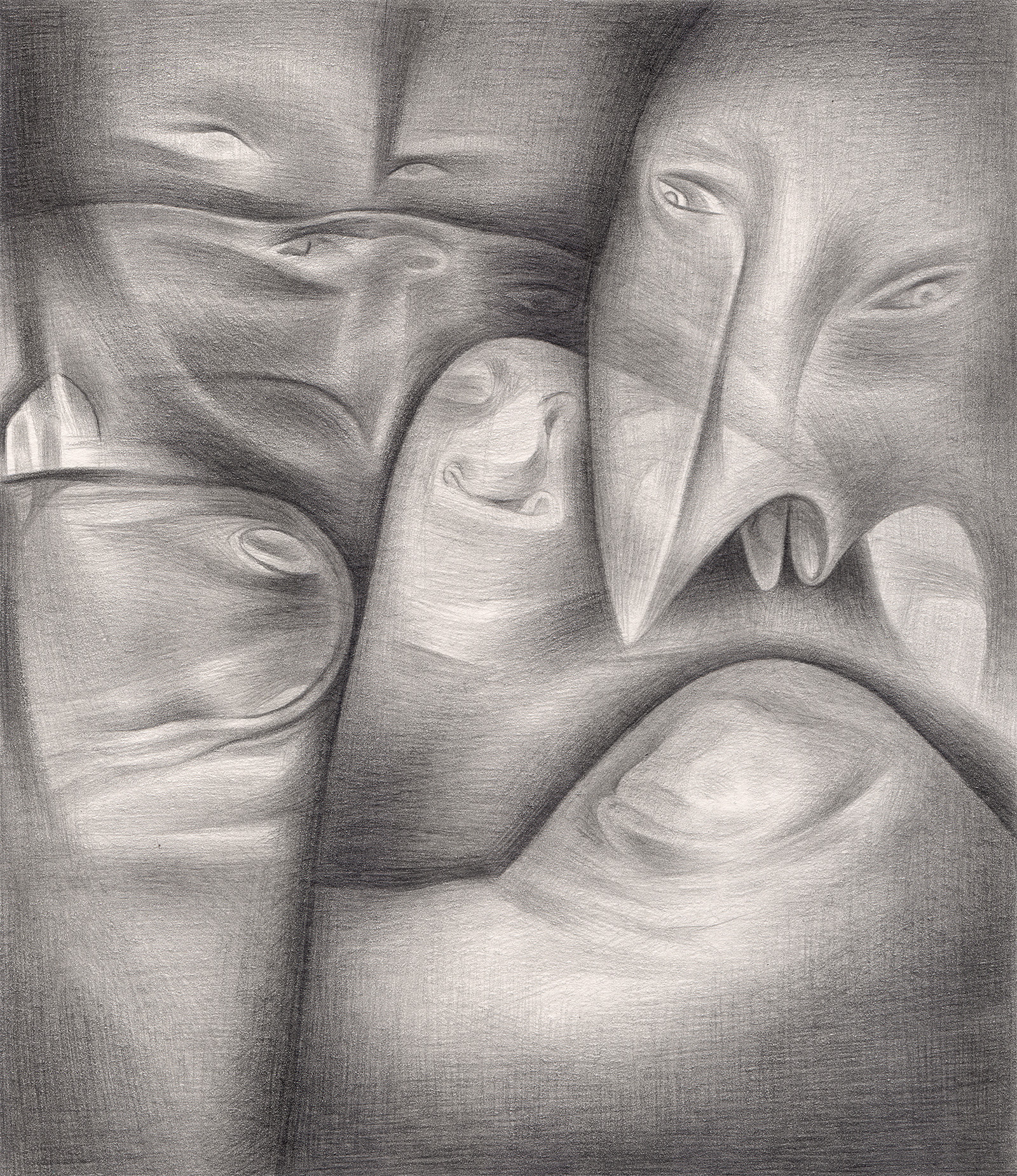 "A Rational Explanation , 2005. Graphite on paper. 6"" x 7""."