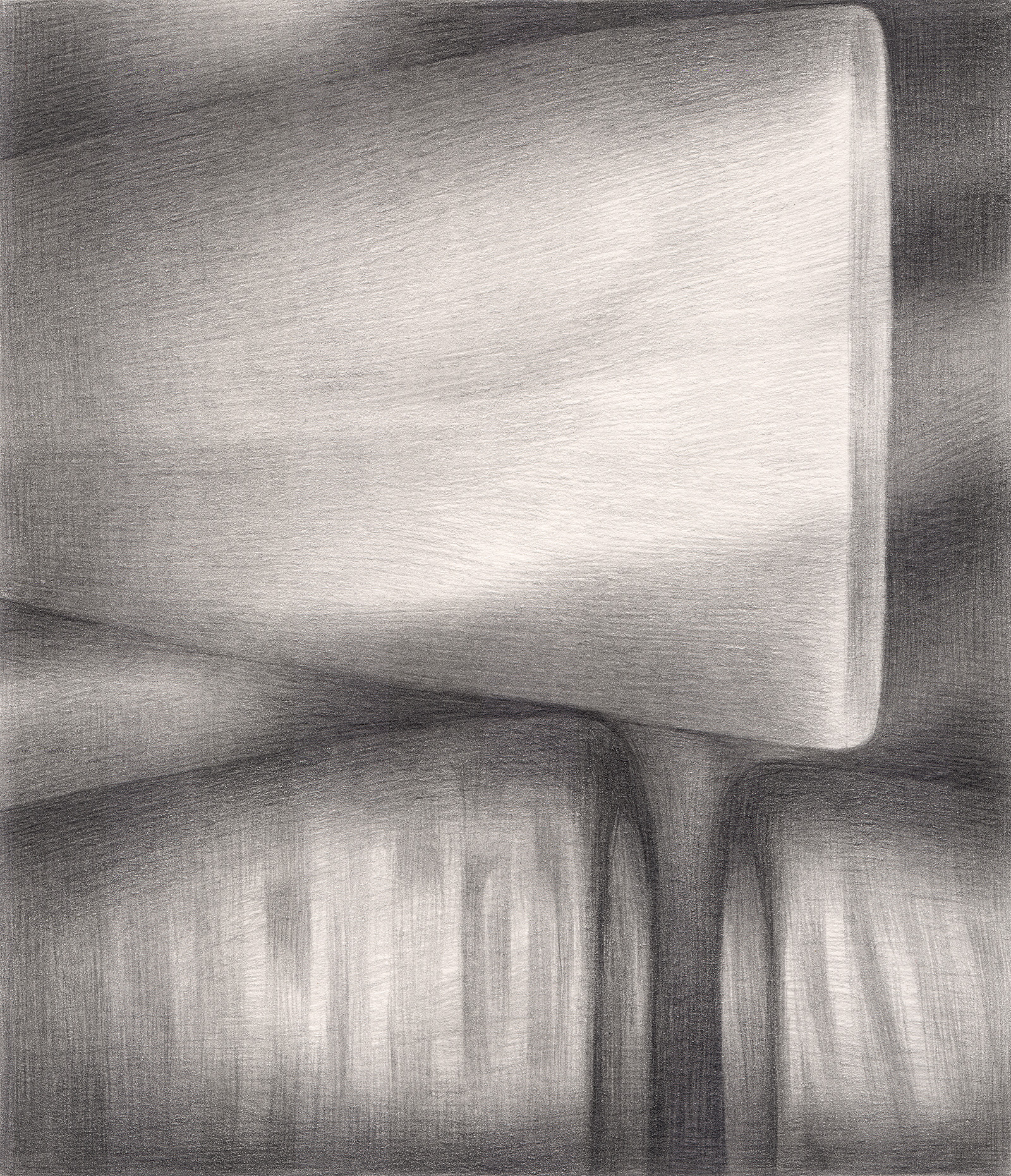 "The Attention of Strangers , 2005. Graphite on paper. 6"" x 7""."