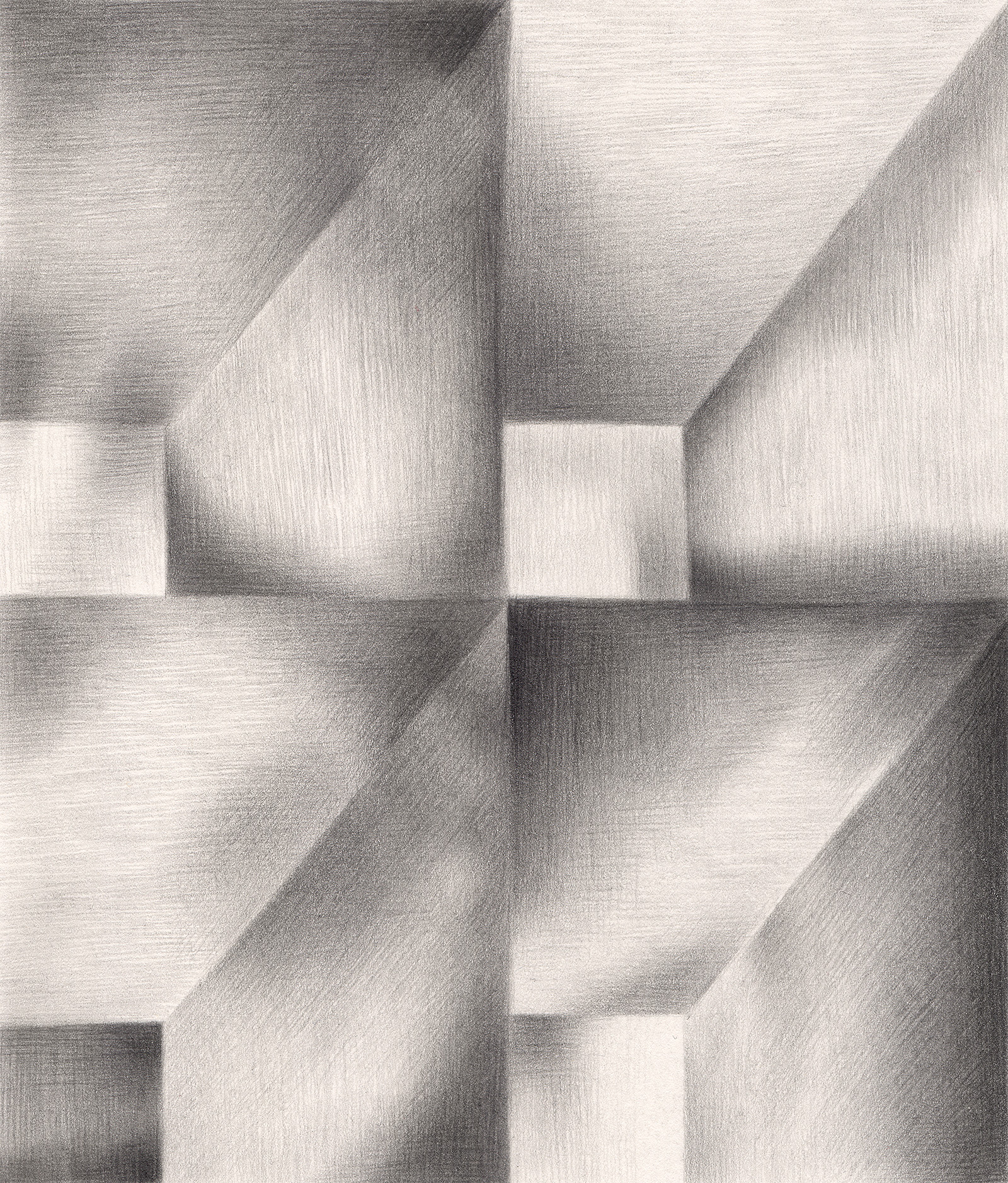 "I Assure You, Sir, The Attic Is Empty , 2005. Graphite on paper. 6"" x 7""."
