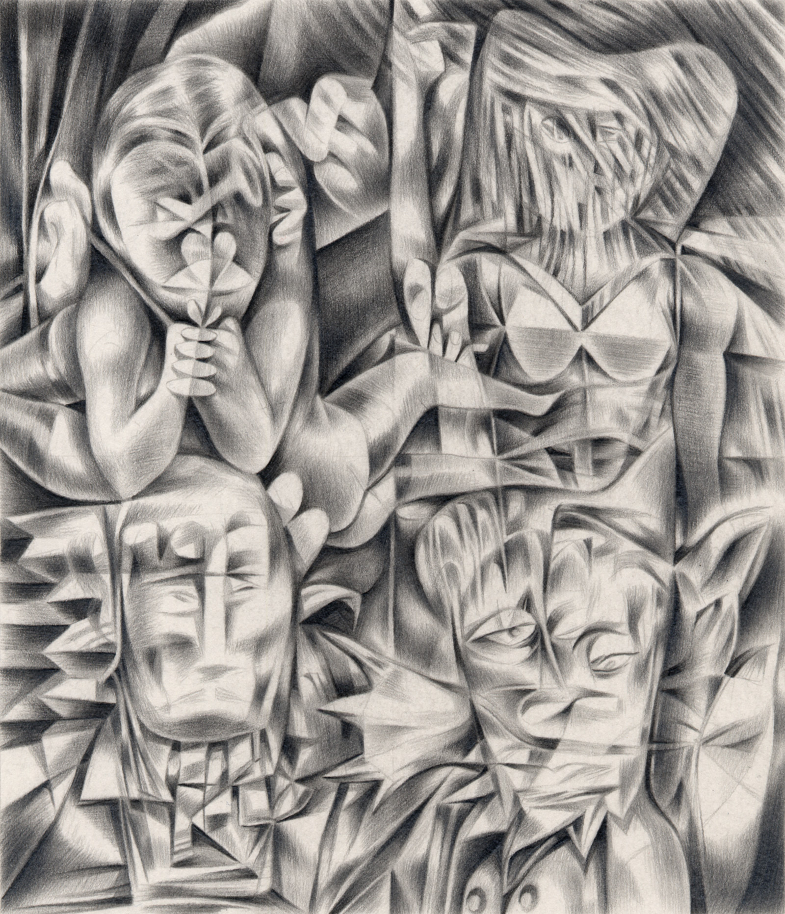 "Former Tenants , 2003. Graphite on paper. 6"" x 7""."