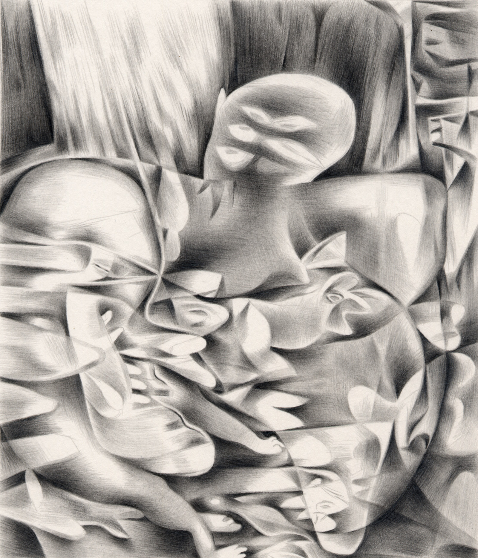 "Baby Fat , 2003. Graphite on paper. 6"" x 7""."