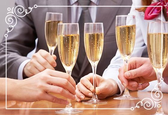 - Champagne för företag...