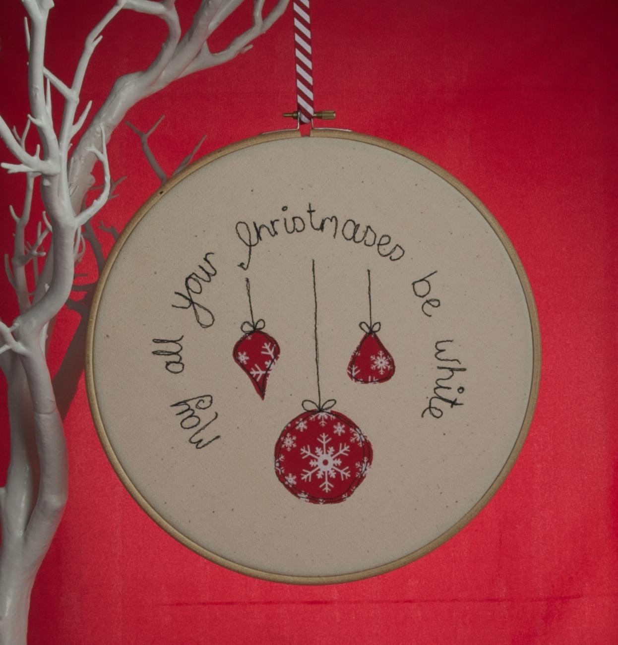 White Christmas Hoop - £15 + p&p