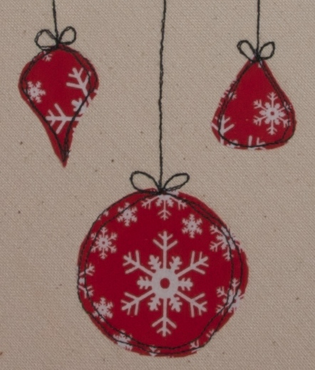 Lovely stitched baubles
