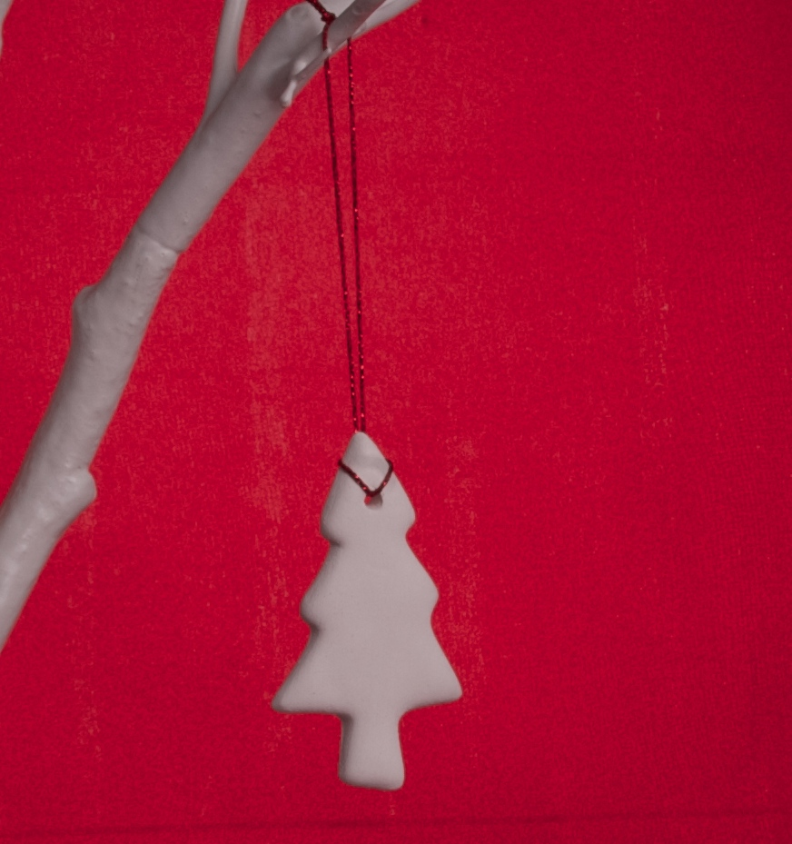Handmade White Clay Christmas Tree - £2.50 each or 5 for £10 + p&p