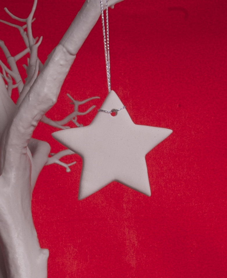 Handmade White Clay Star - £2.50 each or 5 for £10 + p&p