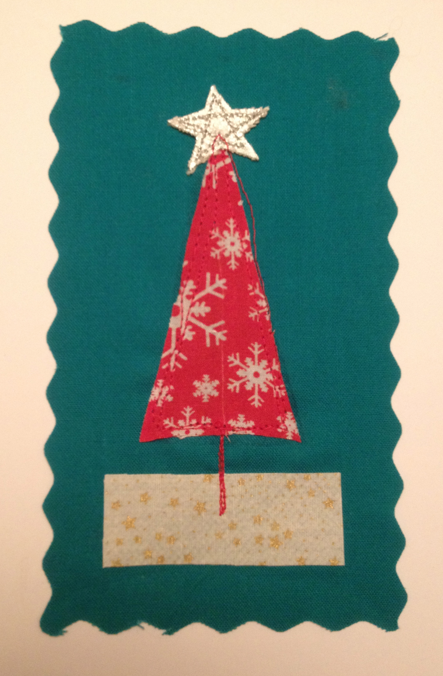 Handmade Stitched Christmas Card - £2.50 each or 5 for £10 + p&p