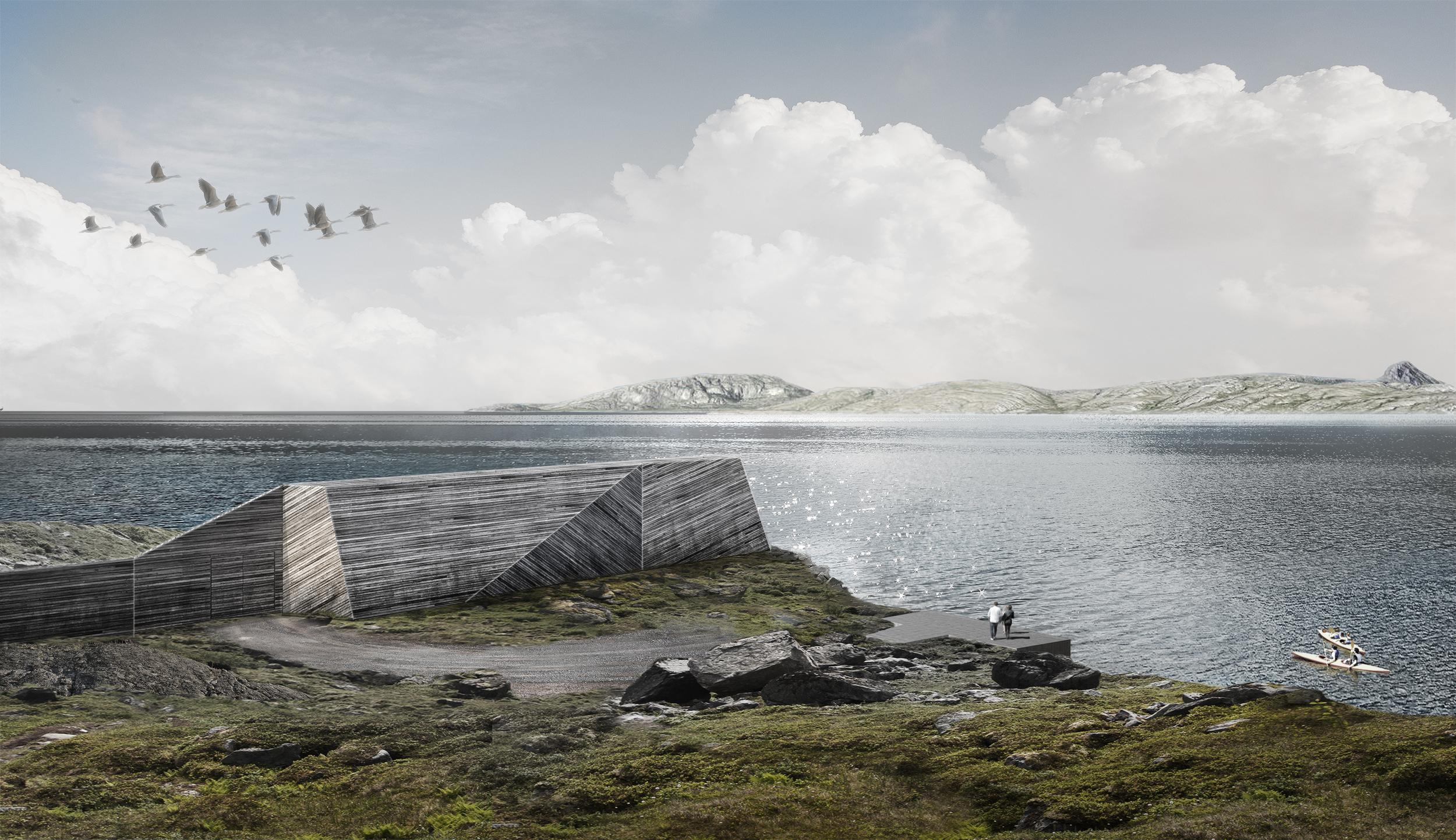 Sculptural sound barrier - Bodø