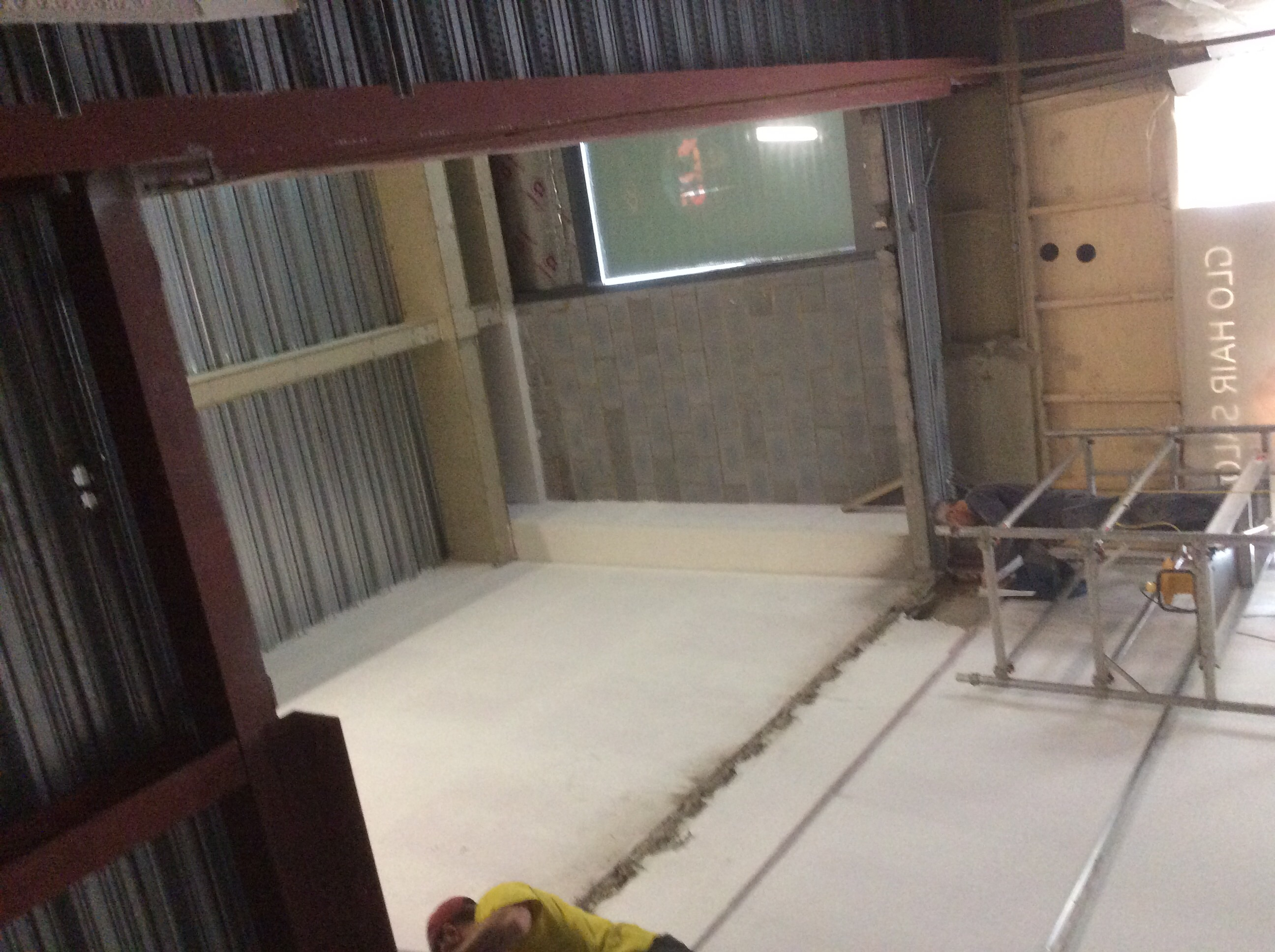 That's our new 40ft stairwell!