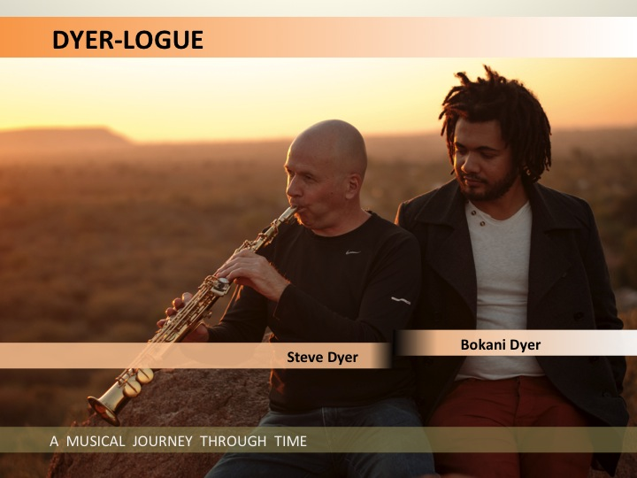 DYER-LOGUE is a collaboration between Steve Dyer and Bokani Dyer. Sometimes performed as a duet, sometimes with other musicians.