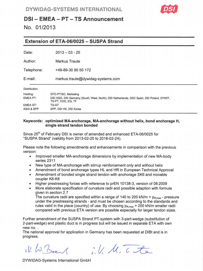 TS-PT-Info 2013-01 ETA-06/0025