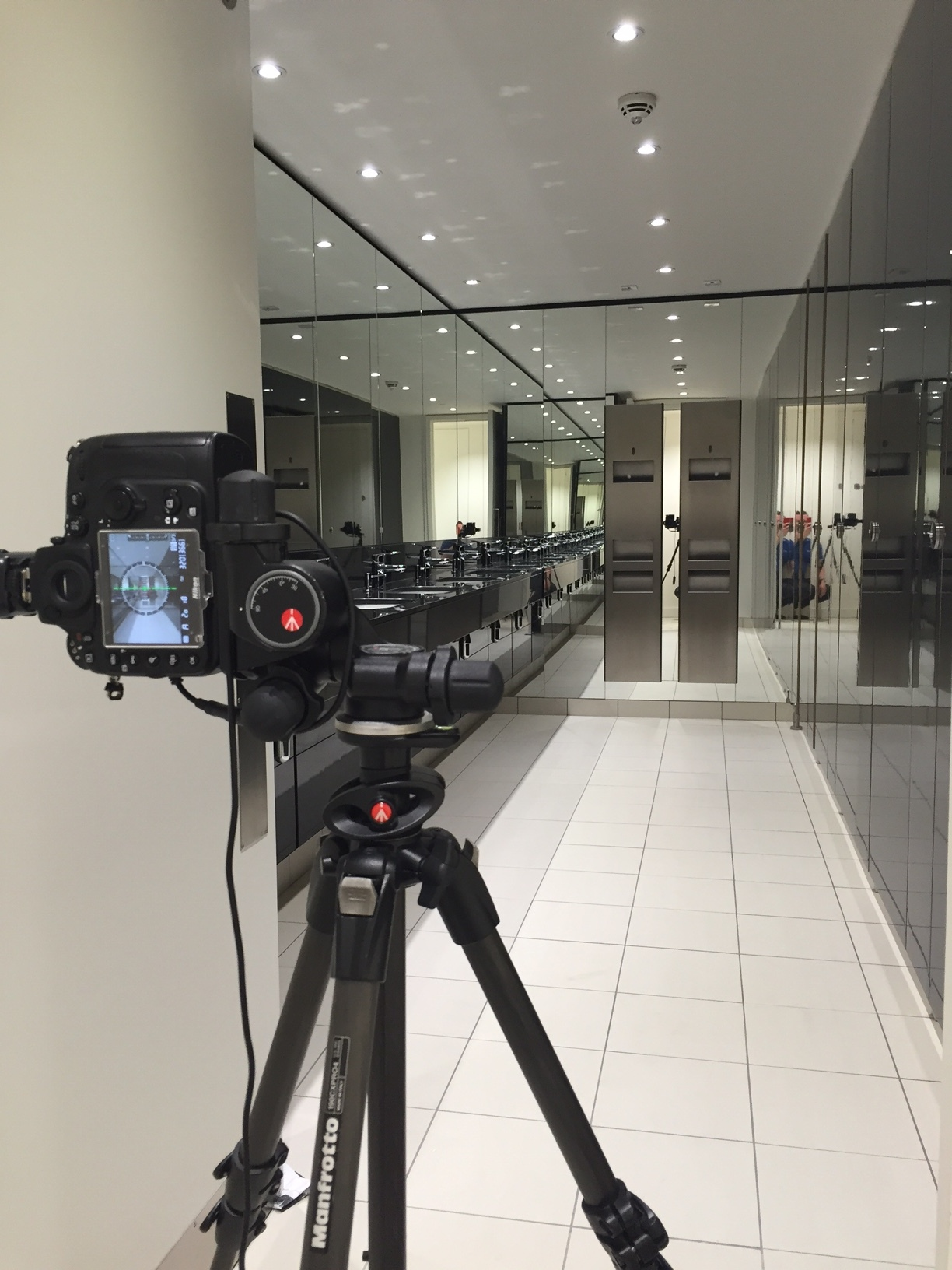 BTS image of recent Polyrey UK, commercial interiors shoot.