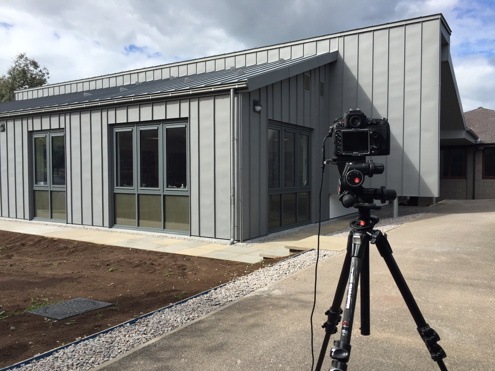 BTS image from recent architectural shoot for Robertson Construction Ltd.
