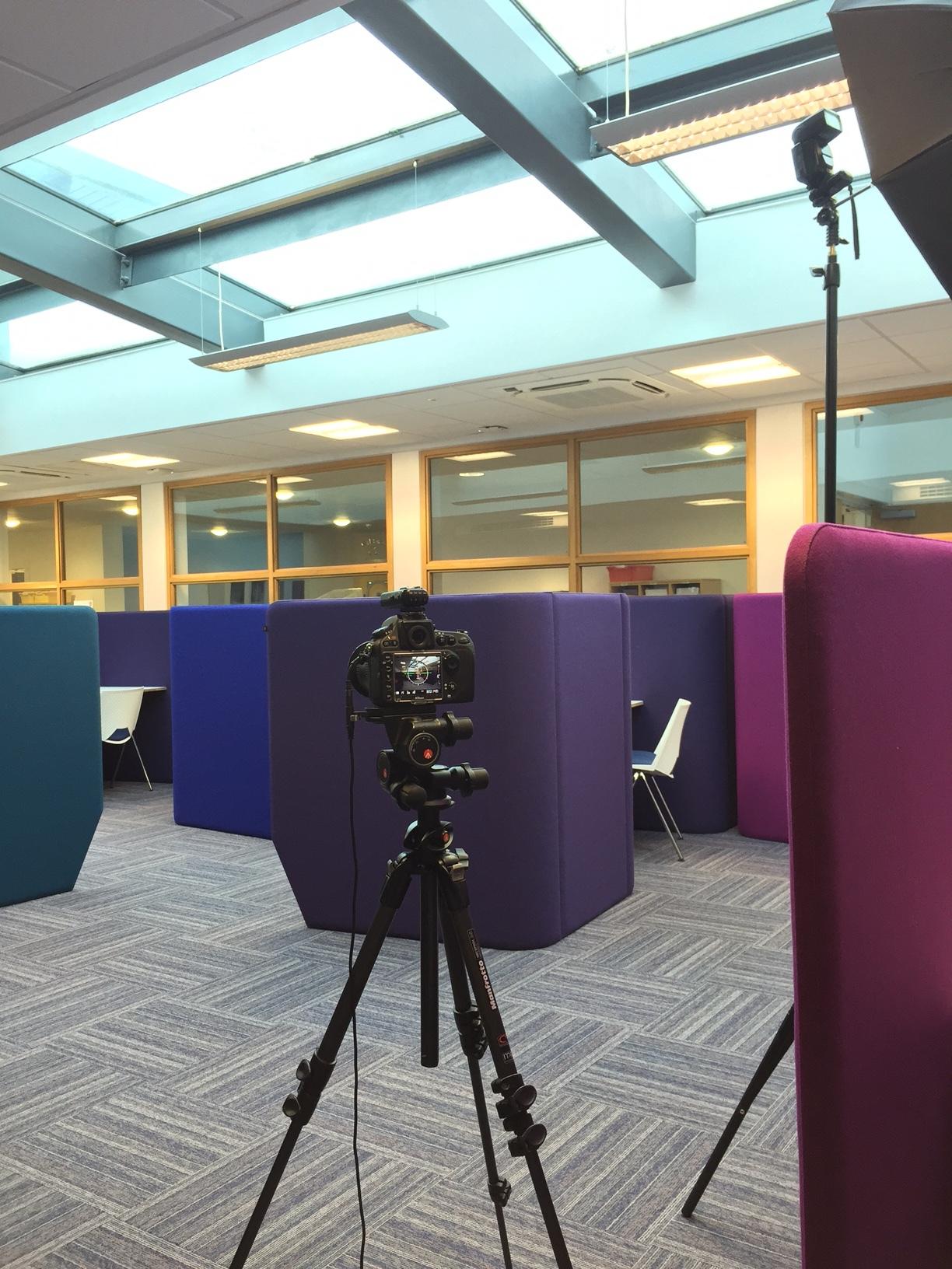 BTS image from recent interior shoot for Robertson Construction Ltd.
