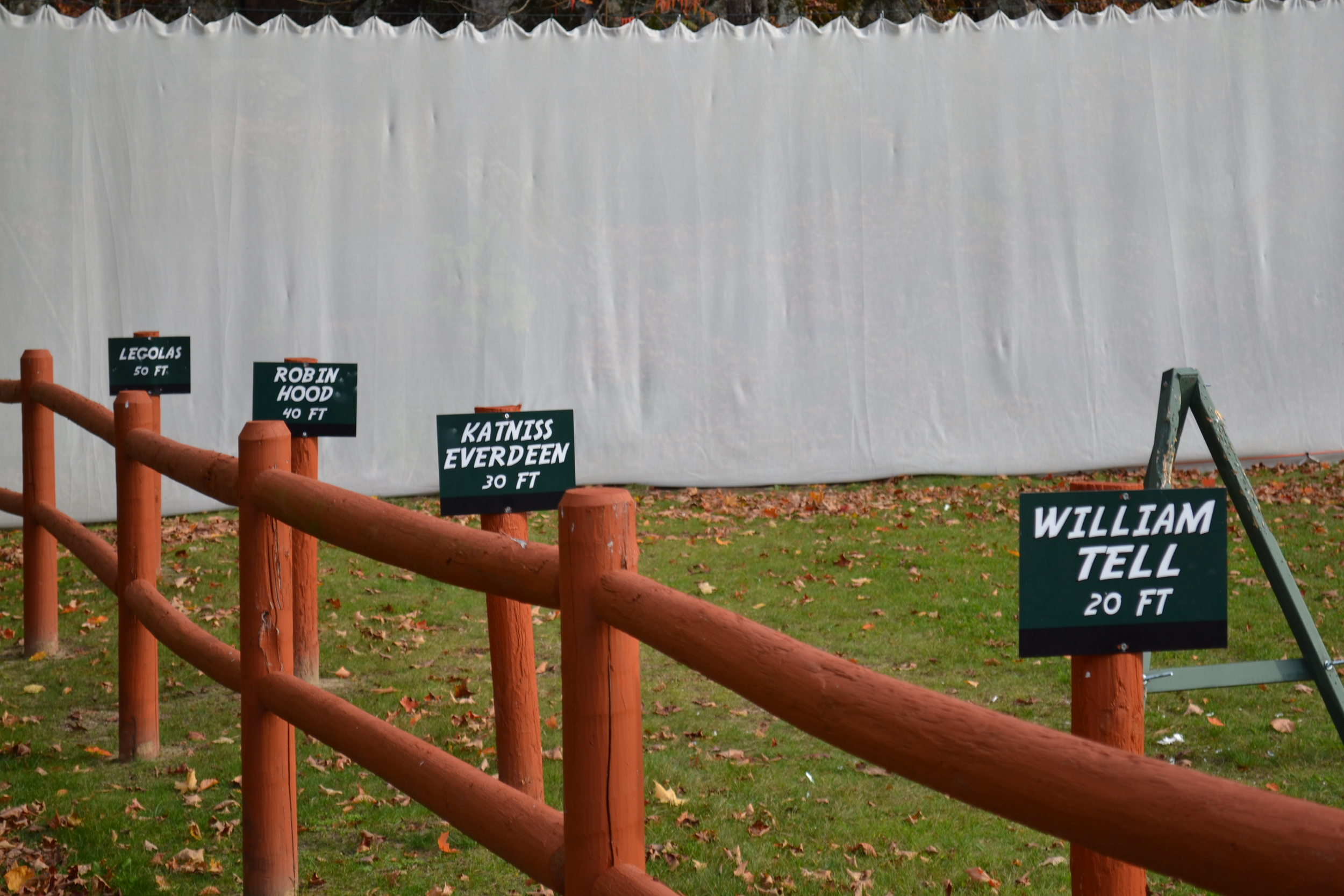 SIGNS AROUND CAMP -