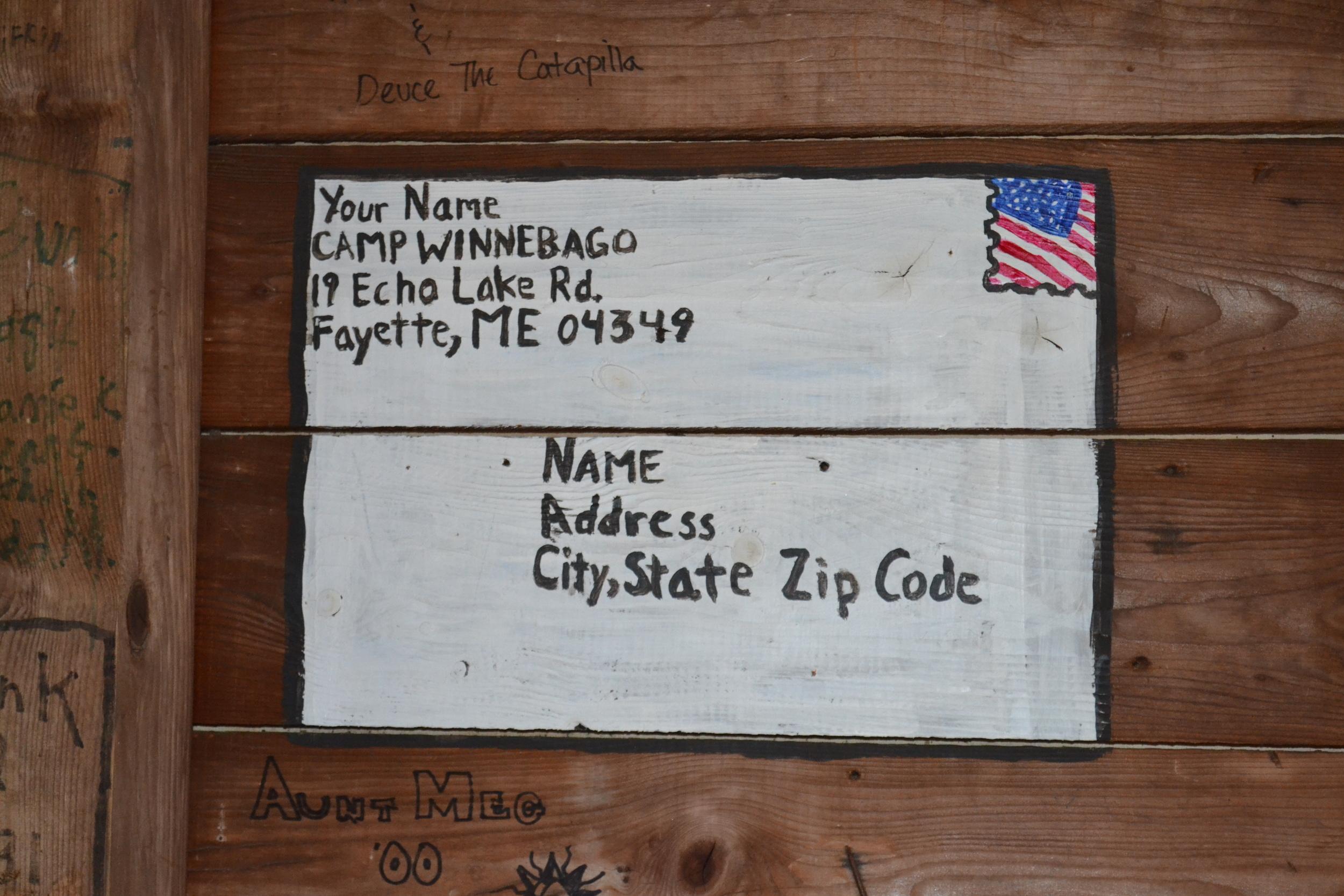 Mail Diagram Camp Winnebago