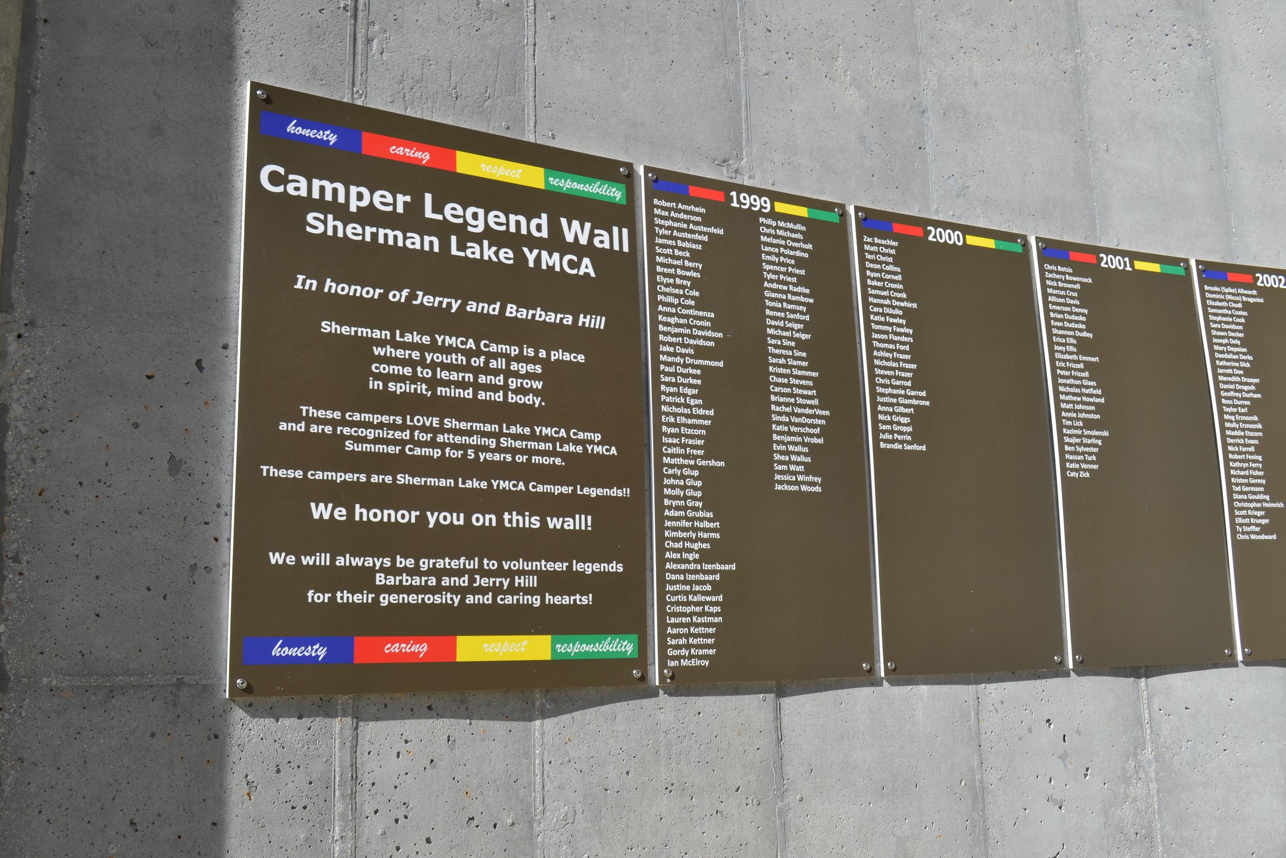 Camper Legend Wall Sherman Lake