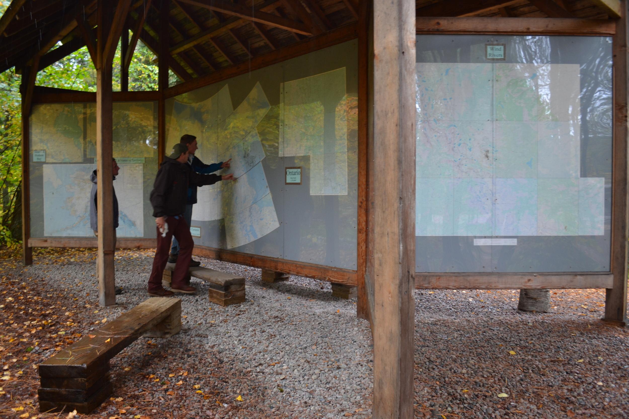 Map Wall Camp Widjiwagan