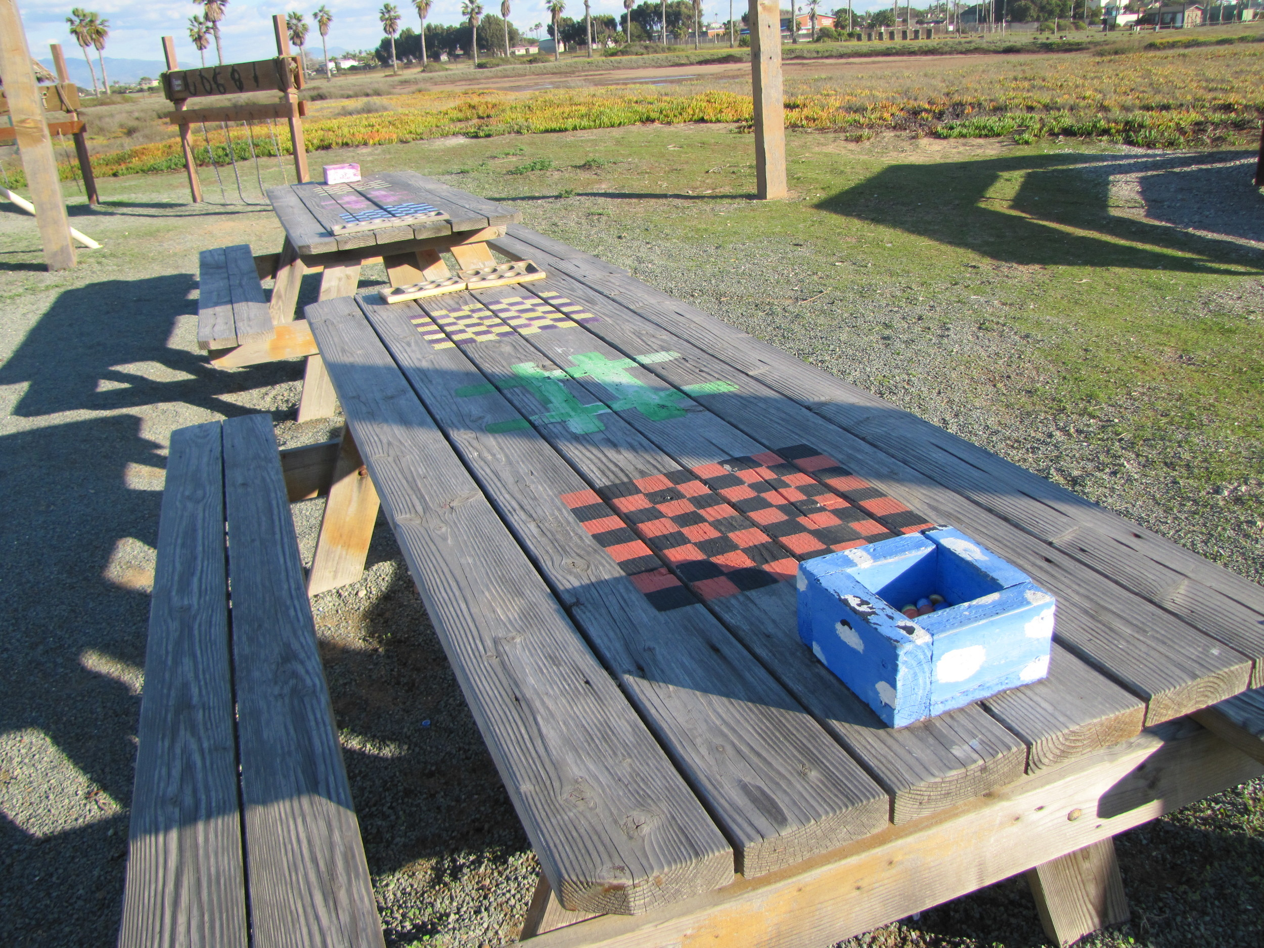 Picnic Table Games Camp Surf