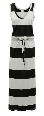 An easy maxi is the perfect item to wear over a bathing suit during the day or for going to and from the spa! We love this striped dress by Bobi.
